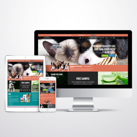 Bespoke Ecommerce Website for Four Friends Pet Food